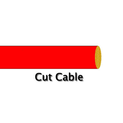 1.0mm² 8.75 Amp 14/0.30 PVC Cable Red Cut Metre