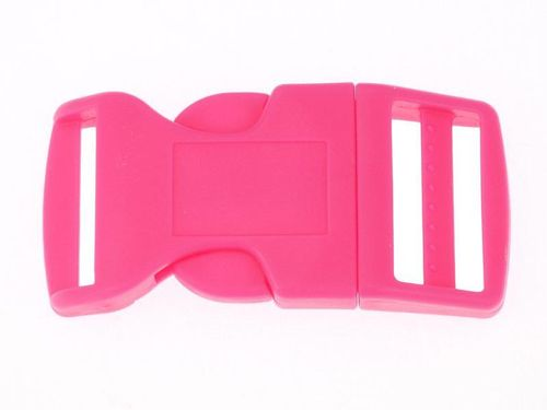 "1 x Pink Curved Side Release Acetal Buckle - 19mm  20mm (3/4"")"