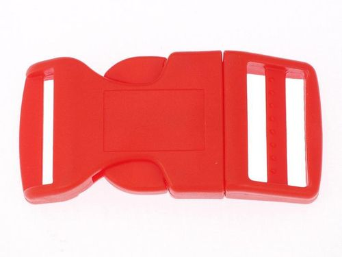 "1 x Red Curved Side Release Acetal Buckle - 19mm  20mm (3/4"")"
