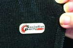 Socialist Party enamel badge