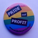 Pride not Profit badge