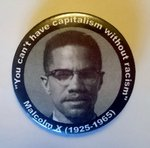 Malcolm X badge