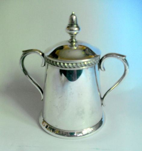 Silver plated lidded pot