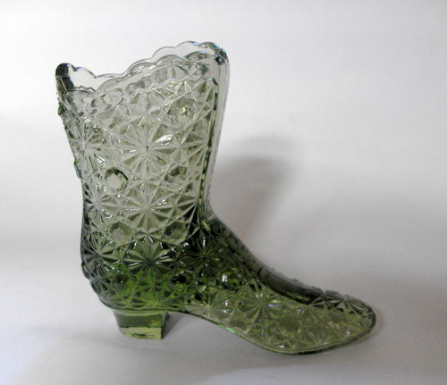Art Glass daisy and button boot