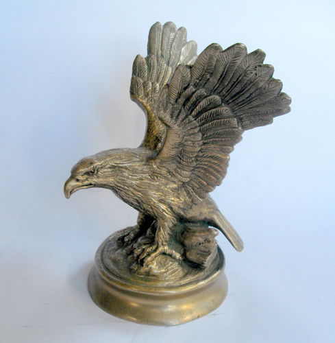 Heavy brass eagle desk weight 3