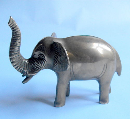 Cast brass elephant desk weight
