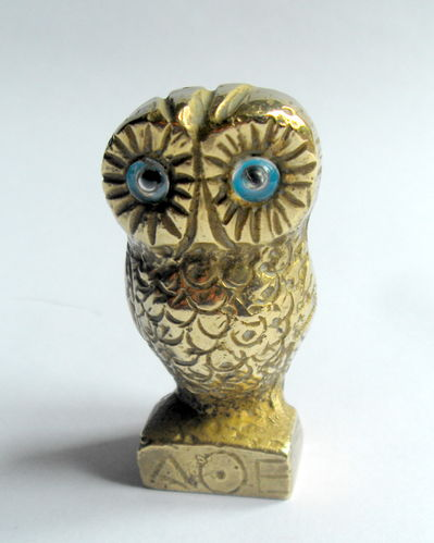 Small heavy owl desk weight 6