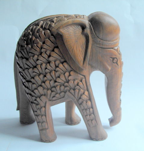 Large heavy carved elephant 1