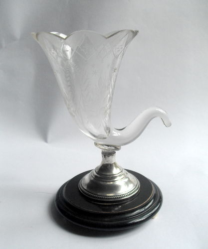 Antique Glass cornucopia