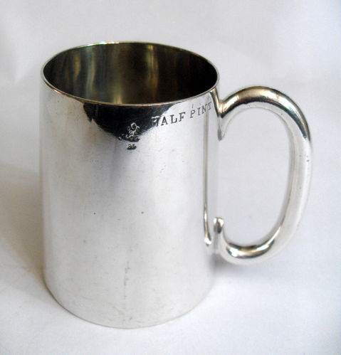 Plated half pint tankard