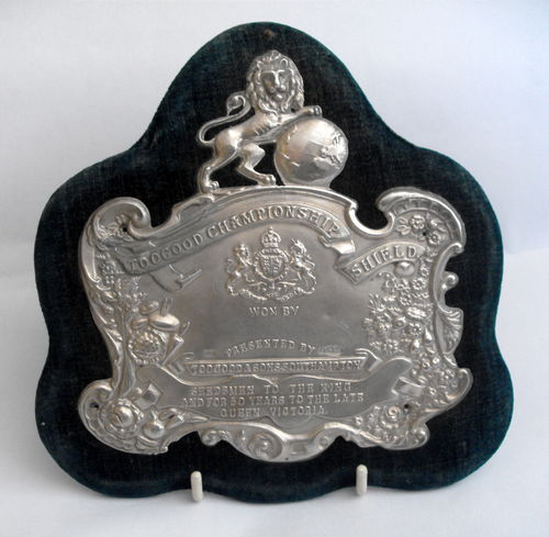 Mounted silver Toogood plaque