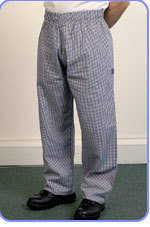 Small check trousers