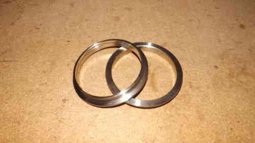 "3.5"" V band flanges - 304 stainless steel , perfect for exhaust systems"
