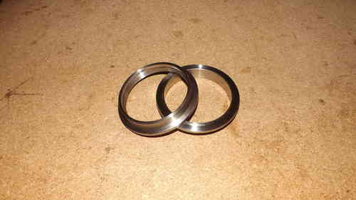 "2.5"" V band flanges - 304 stainless steel , perfect for exhaust systems"