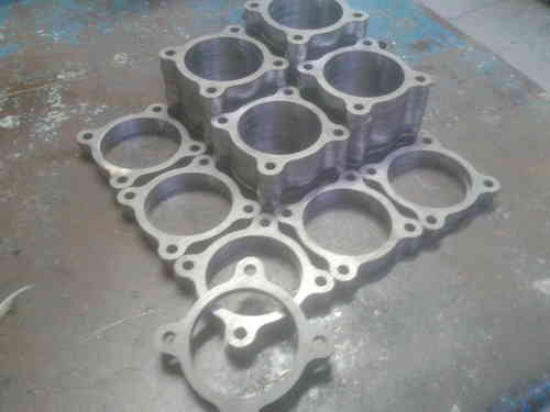 Z20 Top hat base flange -  8mm thick 304 stainless