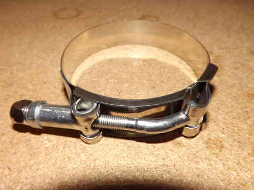 "2.5"" stainless T clamp - Boost hose clamps"