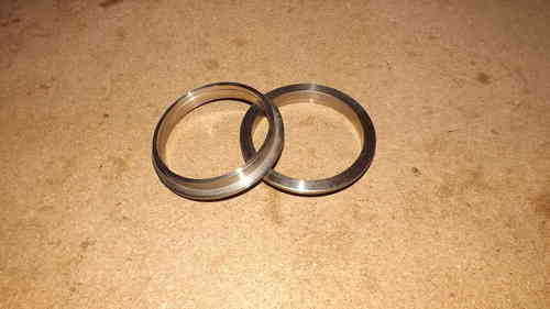 "3"" V band flanges - 304 stainless steel , perfect for exhaust systems"