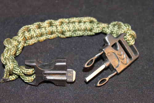 Survival Buckle with Fire Steel & Whistle