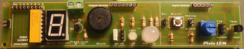 Pixie LEM Input/Output board for Microcontroller teaching